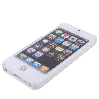 """iPhone 5 / 5S Premium gebürstete-Alu-Style-Hülle / Case / Cover in schwarz / weiß im """"Shell-Style"""" -Original nur von THESMARTGUARD-"""