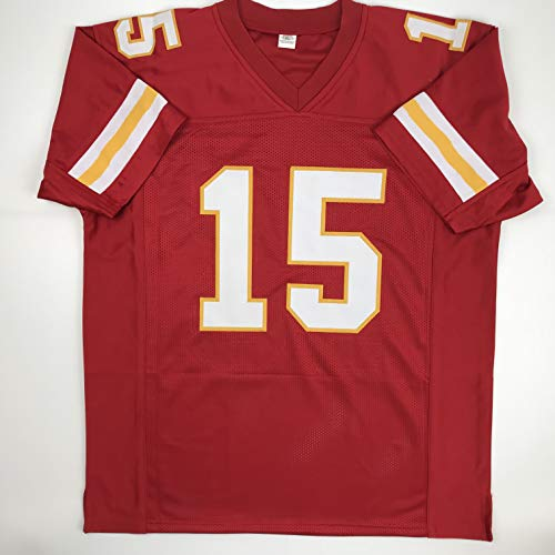 info for fb3ac 998d6 Unsigned Patrick Mahomes Kansas City Red Custom Stitched Football Jersey  Size Men's XL New No Brands/Logos