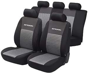 Unitec 84951 Sport - Funda para asiento de coche (para todos los asientos), color gris