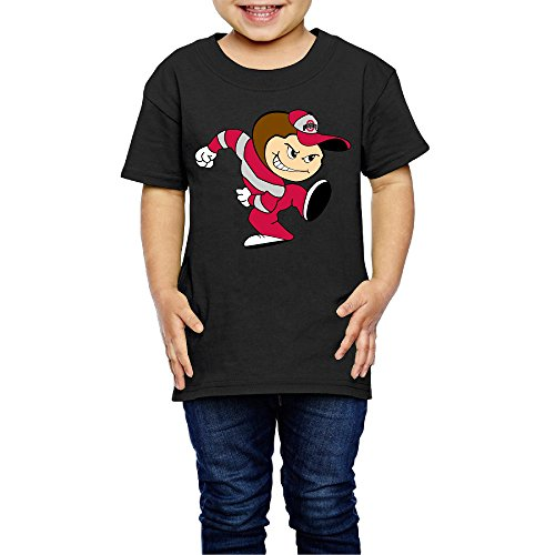 AK79 Kids 2-6 Years Old Boys And Girls Ohio State Buckeyes Football T-shirt Black Size 3 Toddler ()