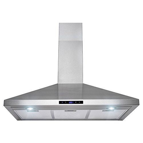Golden Vantage 36″ Stainless Steel Wall Mount Touch Control Kitchen Cooking Range Hood Vent Fan