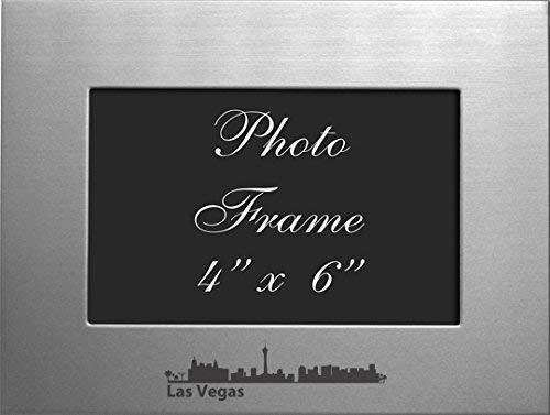 - Las Vegas, Nevada-4x6 Brushed Metal Picture Frame-Silver