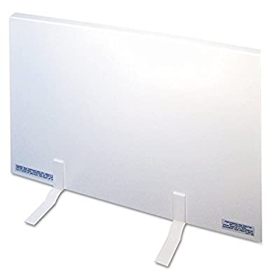 Energy-Saving 150 Watt Heating Panel Heater, Metal Case, 23w x 1d x 16h, White