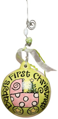 Glory Haus Baby's First Carriage Ball Ornament, 4 by 4-In...