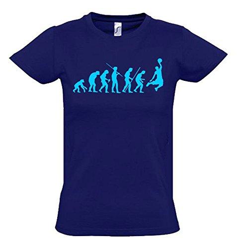 BASKETBALL Evolution Kinder T-Shirt navy-sky, Gr.140cm