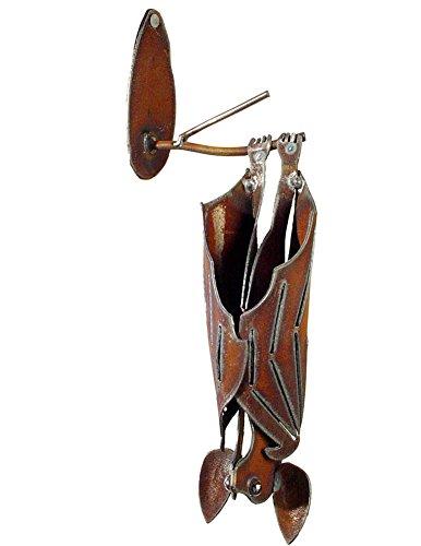 Modern Artisans Hanging Garden Bat, American Handmade: Closed Wings, Facing Left