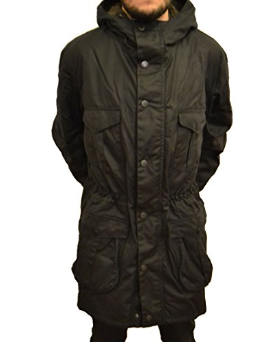 Barbour Men's Oakum Hooded Wax Jacket Navy (BBJK009) (xx-Large)