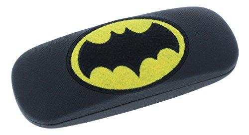 Batman Étui à lunettes pour enfant avec charnière en métal en noir ou gris noir noir
