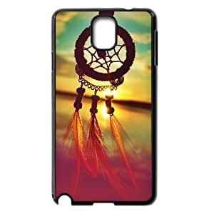 JFLIFE Dream Catcher Phone Case for samsung galaxy note3 Black Shell Phone [Pattern-1]