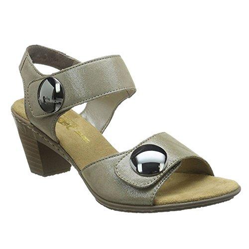 Rieker 67369-42, WoMen Heels Sandals Beige (Beige)