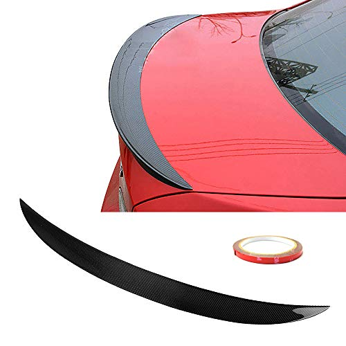 2dr Carbon - Trunk Spoiler Fits 2007-2013 BMW 3-Series E92 | P Style Carbon Fiber Black Trunk Boot Lid Deck Lip Spoiler Wing By IKON MOTORSPORTS | 2008 2009 2010 2011 2012