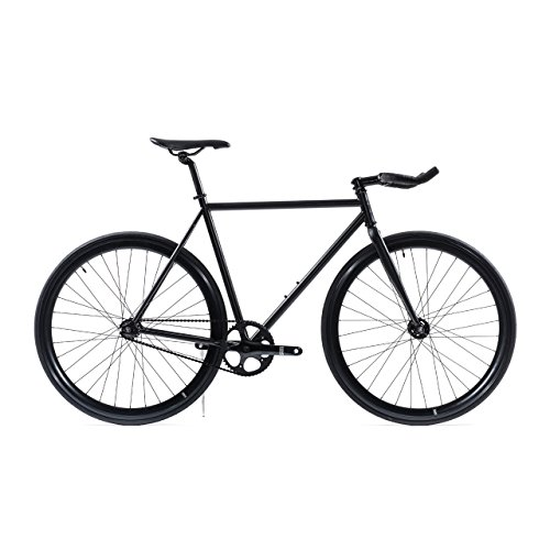 State Bicycle Co Fixed Gear Fixie Single Speed Bike, Matte Black 5.0, 55cm