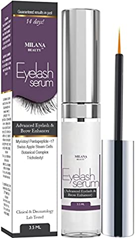 Eyelash Growth Serum & Eyebrow Enhancer - Grows Longer, Fuller, Thicker Lashes & Brows in 30 Day - Enhancing Conditioner Treatment Boosts Regrowth Prevents Thinning Breakage and Fall Out, Made in (Thick And Fuller Conditioner)
