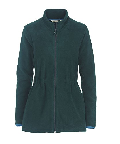 Woolrich Women's Andes Fleece Long Jacket, Deep Forest, Small