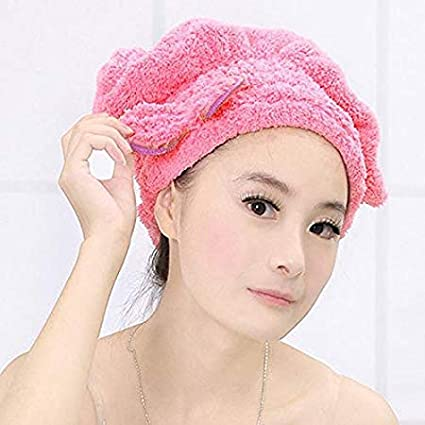 41c0df7a6de Che-good Shower Cap - 6 Colors Textile Microfiber Hair Turban Bath Quickly  Dry Hat