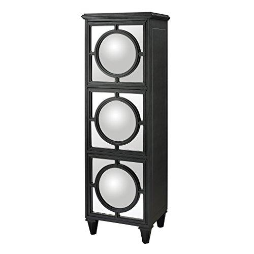 Artistic Convex Mirror Shelf Unit, (Hardwood Wall Unit)