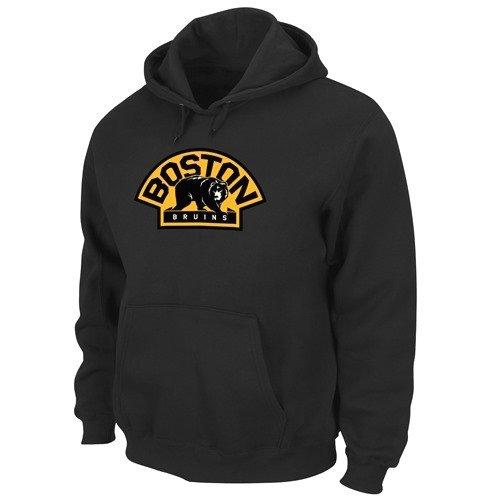 Boston Bruins Majestic Felt Tek Patch Alternate Logo Hooded Sweatshirt