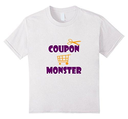 Kids Coupon Monster Funny Halloween Black Friday Shopping T-Shirt 12 White