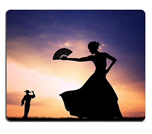 [Luxlady Mouse Pad Natural Rubber Mousepad IMAGE ID 21164112 Flamenco silhouette at sunset] (Female Flamenco Dancer Costumes)