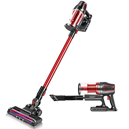iwoly i9 Cordless Vacuum Cleaner 2 in 1 Lightweight Bagless Stick and Handheld Vacuum with Powerful LED Floor Head