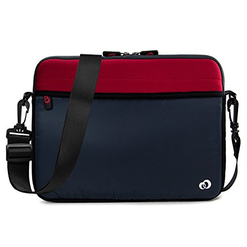 Kroo 10-11.6 Inch Laptop Sleeve Tablet Bag, Water Resistant Neoprene Notebook Computer Carrying Cover for Apple MacBook, Microsoft Surface, Chromebook (Patriot Red) 10 Netbook Bag Case