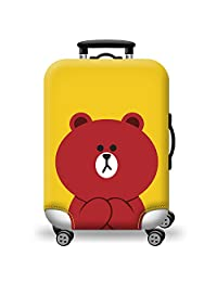 Liyao Colorful Thickened Luggage Cover Durable Cute Bear Pattern Luggage Protector for 18-31 inch Luggage