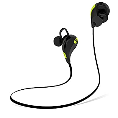 MMOVE Bluetooth Earbuds - On-ear Control - Connect 2 Devices Simultaneously - Play & Talk Time of 6 hrs - Bluetooth 4.1 - Voice Notifications