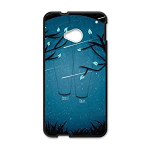 Happy Meteor moon swing beautiful scenery Cell Phone Case for HTC One M7
