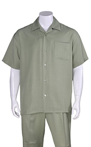 Fortino Landi Plain Walking Suits 29544-Olive-XXXXX-Large-58