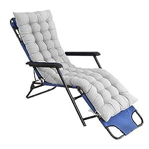 Heyjewels Coussin de Chaise Longue Bain de Soleil Anti-dérapant Transat Ponçage de Jardin pour Fauteuil Relax Lounge…