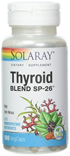 (Solaray Thyroid Blend SP-26 VCapsules, 100 Count)
