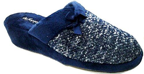 DE FONSECA ciabatte pantofole invernali da donna mod. PALERMO W46 BLU