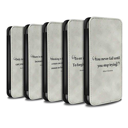 Stuff4 Coque/Etui/Housse Cuir PU Case/Cover pour Apple iPhone 8 / Pack 9pcs Design / Citations Célèbres Collection