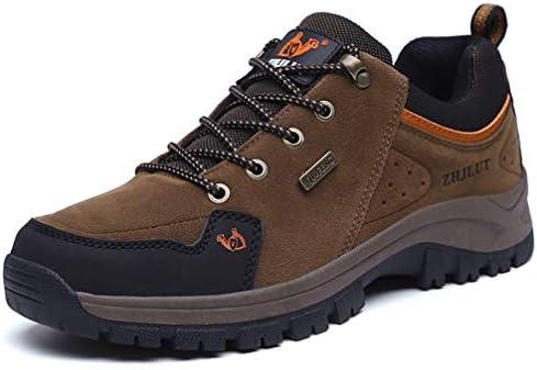 大きいサイズ ハイキングシューズ メンズ トレッキング 登山靴 防滑 通気性 軽い 防水 アウトドア ウォーキング 耐磨耗 レースアップ ハイカット 黒 グレー ダークグリーン 27cm