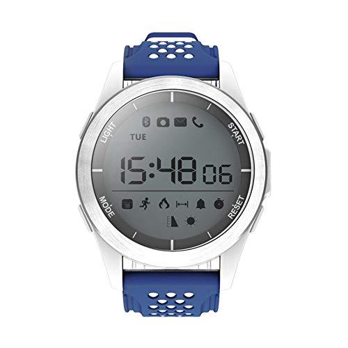 NO.1 F3 Sports Smartwatch Rotatable Dial 30m Natación Impermeable Reloj podómetro Reloj de Pulsera para Android iOS - Azul y Blanco: Amazon.es: Relojes