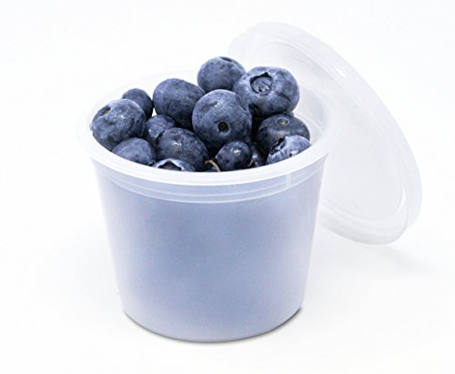 Airtight Food Storage Containers with Easy Secure Lids by OakRidge Products (4 Ounce) (50 Pack)