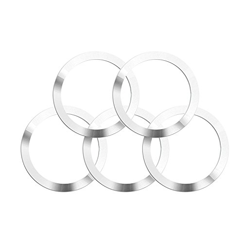 Metal Ring for Magnetic Qi Wireless Charger 60.8MM/2.39inch Round Ring for TankShip Magnetic Wireless Car Charger Car Mount Phone Holder Qi Standard Mobile Cell Phone (5 pcs) (All Phones)