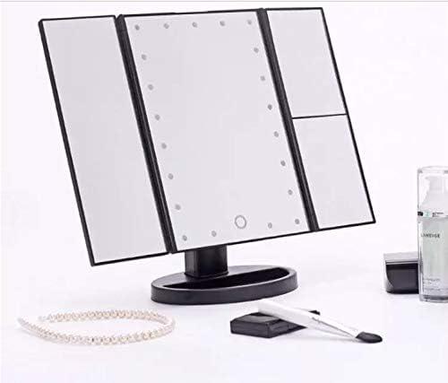 Espejo de Maquillaje de Luz Led y Aumento x1 x2 x3 x10 Negro o Blanco BLANCO Espejo Tocador Zoom con Rotaci/ón 180/° Luces Intensidad Regulable Carga por USB o Bater/ía para Sobremesa o Escritorio