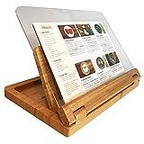 Hala Flip Cookbook Holder Bamboo Image