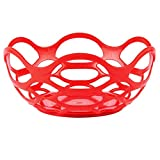 TableTop King HS1072 7 3/4'' Red Chili Open Weave Basket - 24/Case