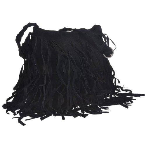 Hot Shoulder Fringe Celebrity Black Handbag Bag Women Messenger Tassel Attrwq
