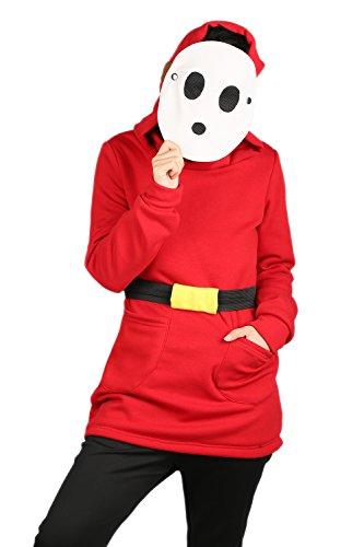 Women's Shy Guy Hoodie Deluxe Red Cotton