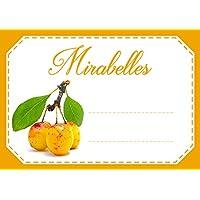Mon Bio Jardin Lot de 30 étiquettes autocollantes mirabelles pour confiture, compote, conserves maison