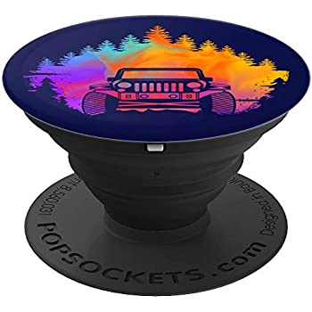 Off Road Driving SUV Adventure Colorful Forest - PopSockets Grip and Stand for Phones and Tablets