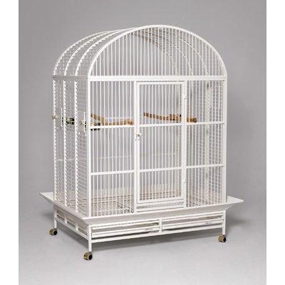 Hacienda Dome Top Bird Cage Color: Pearl White