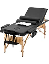 """Massage Table Massage Bed Spa Bed Heigh Adjustable 3 Fold 84"""" Massage Table W/Sheet Cradle Cover 2 Bolster Hanger Portable Facial Salon Tattoo Bed"""