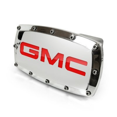 - GMC Red Engraved Billet Aluminum Tow Hitch Cover