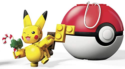 Mega Construx Pokemon Candy Cane Pikachu Building Set]()