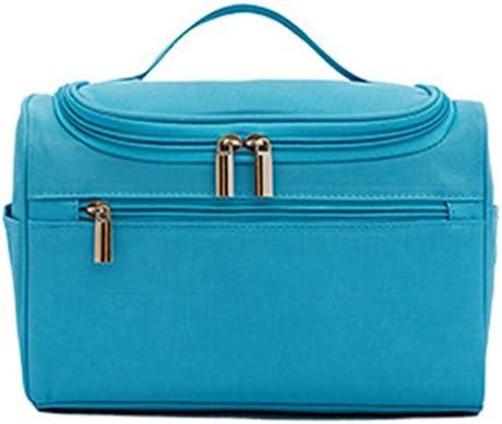 化粧品袋 メイクアップパターンZIP形式気質主催ストレージポーチのために女の子とバッグ大小化粧ケーストイレタリーバッグバニティケース 旅行化粧収納ボックス (Color : Blue)