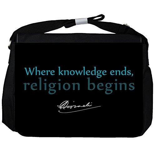 Where knowledge ends, - Benjamin Disraeli Unisex Umhängetasche